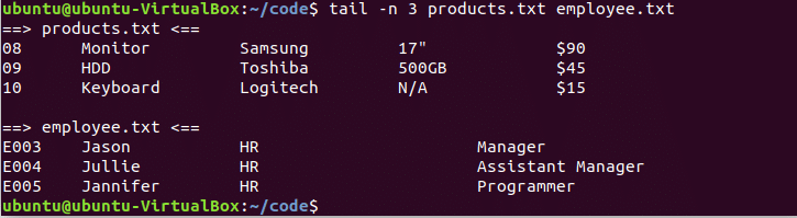 Bash Head and Tail Command Tutorial – Linux Hint