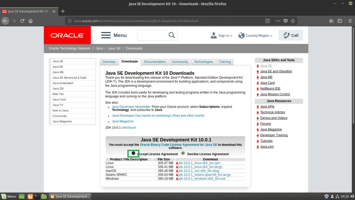 download java 8 for linux mint