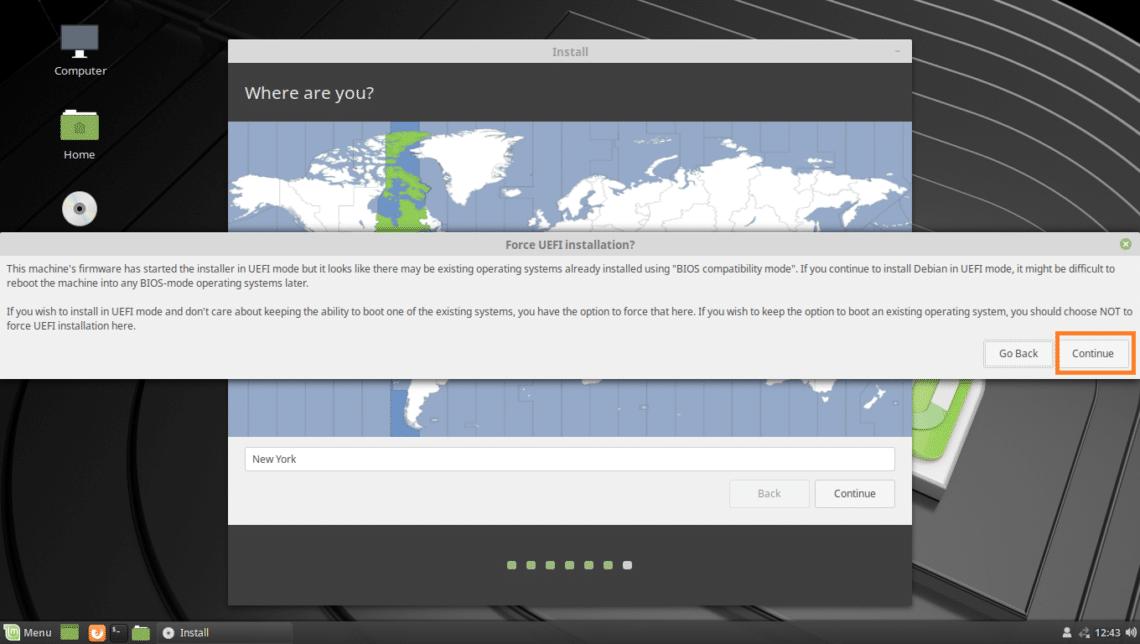 install linux mint 19 uefi