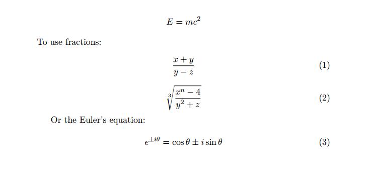 Latex to Display Mathematics – Linux Hint
