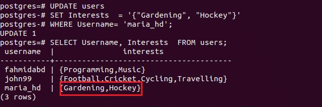 PostgreSQL Arrays Tutorial – Linux Hint