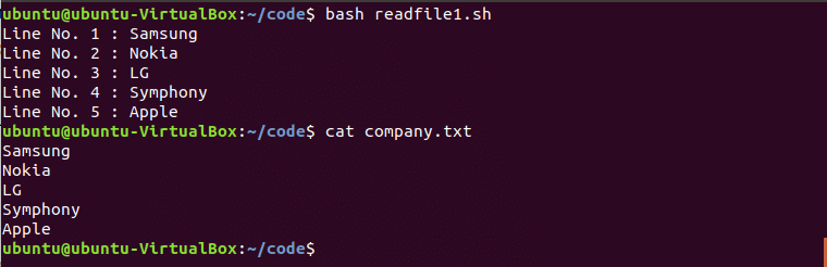 Read text file command line linux download