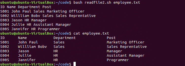 How to read file line by line in Bash script – Linux Hint