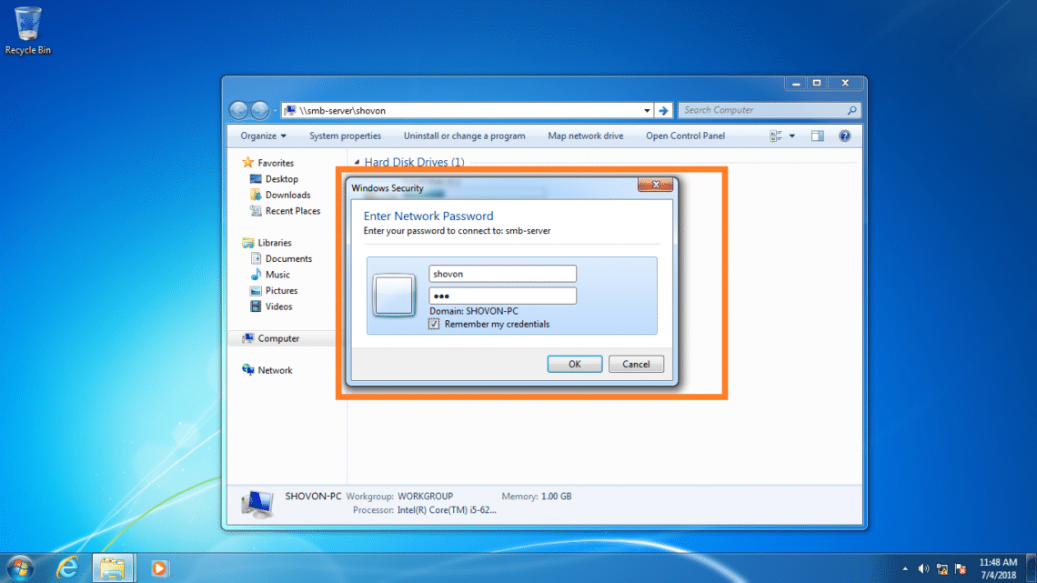 How to Install and Configure Samba Share with Windows and