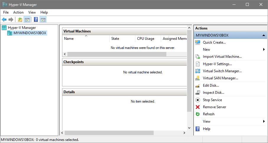 install hyper-v manager
