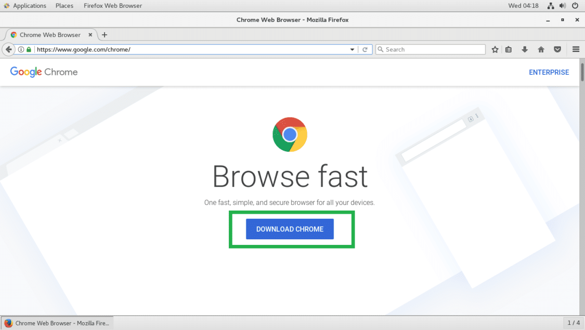 how to install google chrome browser in centos