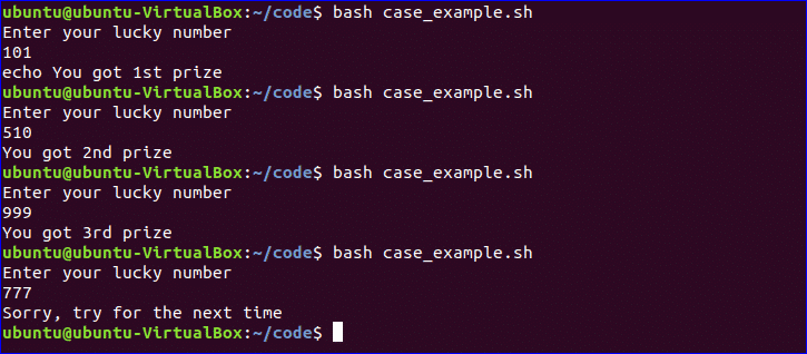 Simple bash shell script example