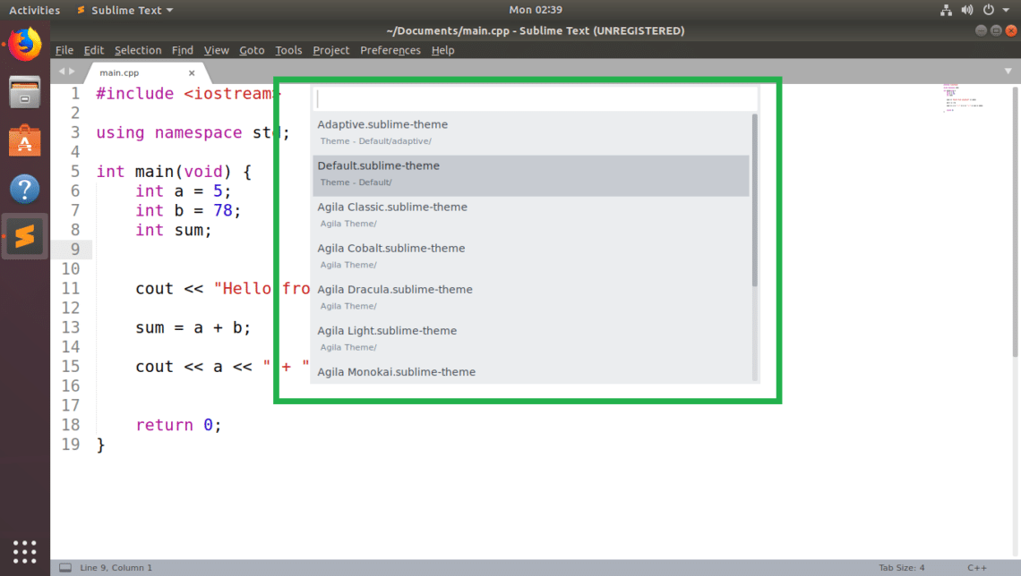 How to Use Themes with Sublime Text – Linux Hint