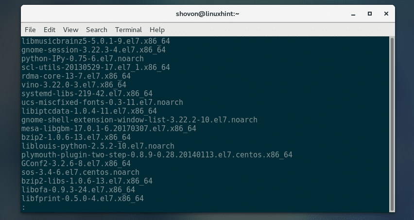 How to List Installed Packages on CentOS 7 – Linux Hint
