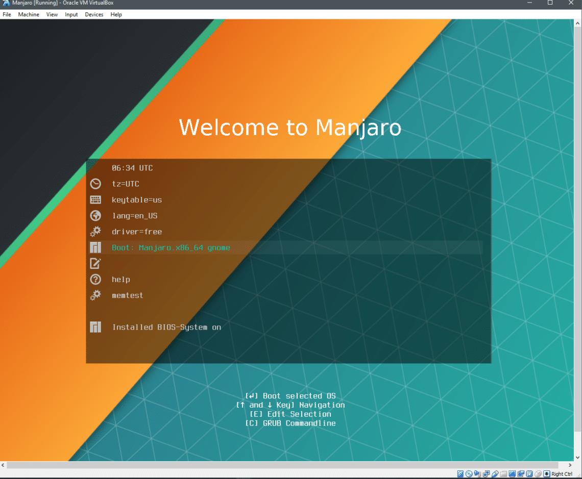 Install Manjaro Linux on VirtualBox – Linux Hint