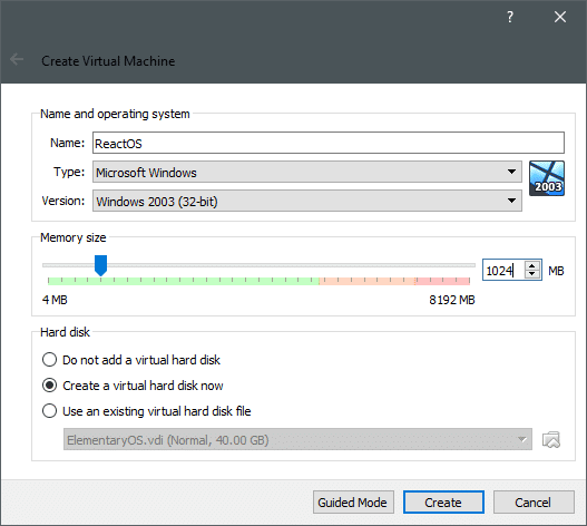 Installing ReactOS on VirtualBox – Linux Hint