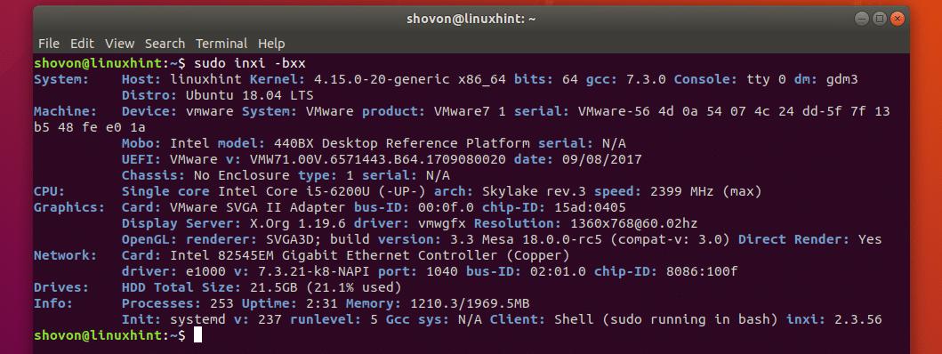 ubuntu get cpu serial number