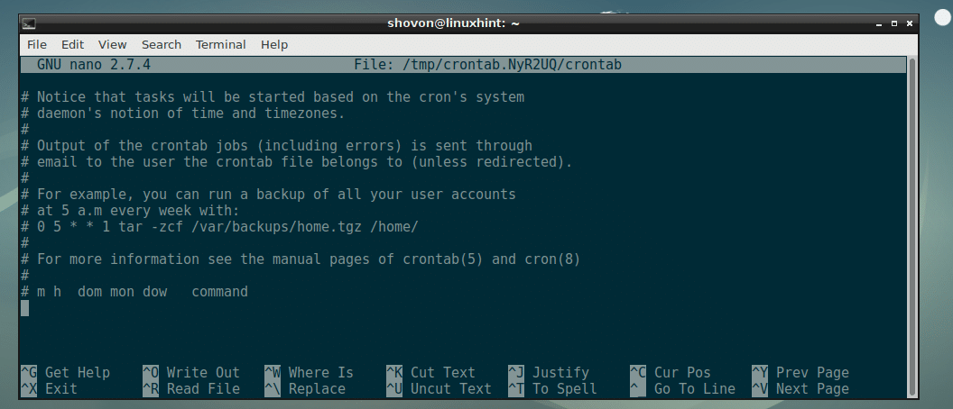 Run a Cron Job Every Minute – Linux Hint