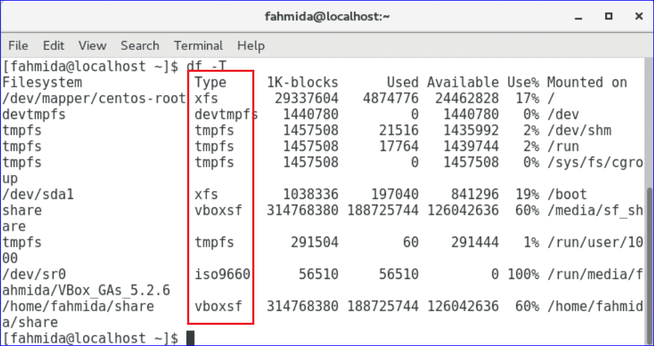 Check Disk Space Usage on CentOS – Linux Hint