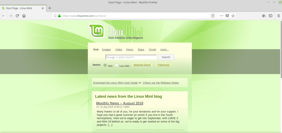 Getting the Latest Version of Firefox on Linux Mint 19