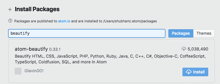 Working with JSON Documents in ATOM editor – Linux Hint