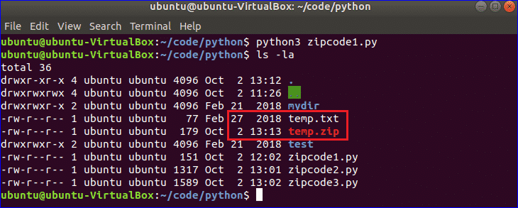 Use python to zip a file and directory – Linux Hint