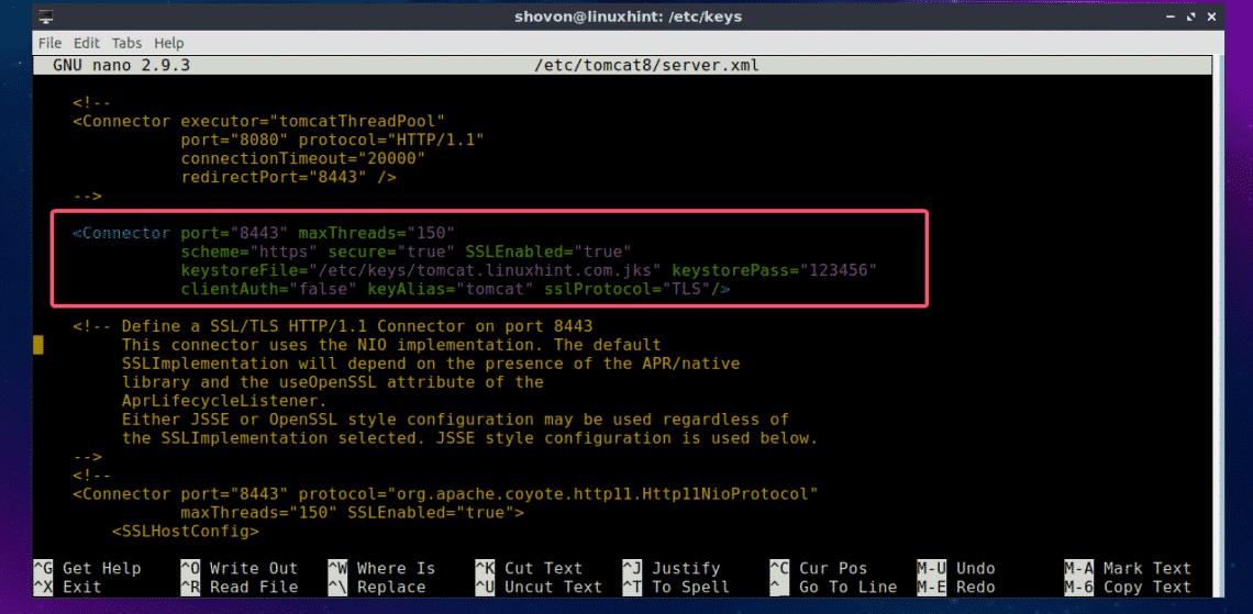 HTTPS DEFAULT PORT 8443 - Modifier les ports d'accès (SSH et