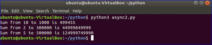 Python Asyncio Tutorial – Linux Hint