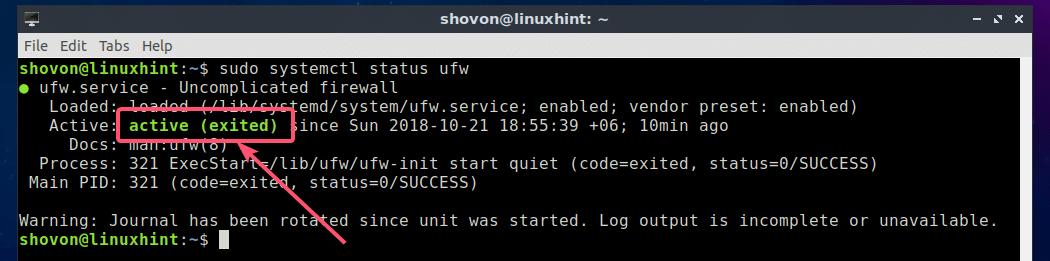 how to turn on firewall in ubuntu