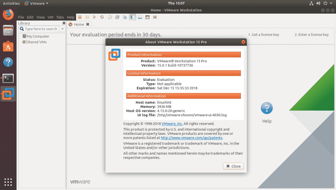 Install Vmware Workstation Pro 15 On Ubuntu Linux Hint