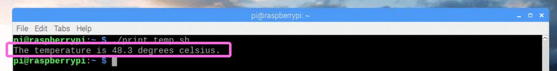 Raspberry Pi Temperature Monitor – Linux Hint