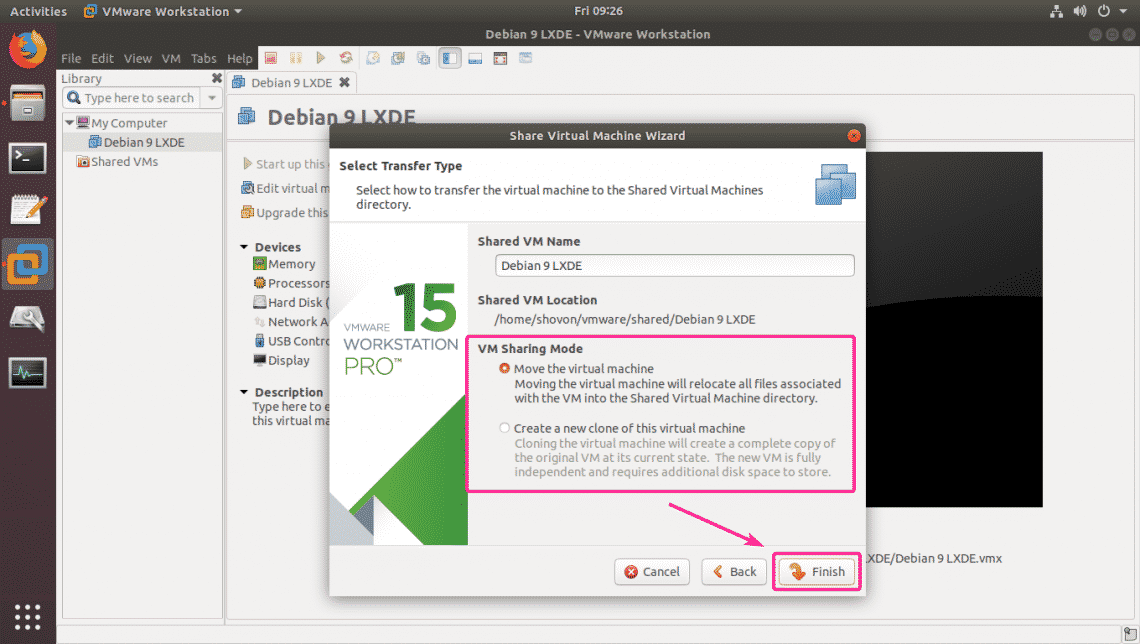 Work with VMware Workstation Pro Shared VMs on Ubuntu – Linux Hint