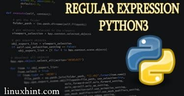 Regular expression Python3
