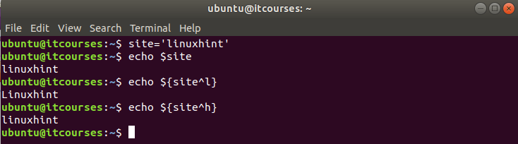 Bash lowercase and uppercase strings – Linux Hint