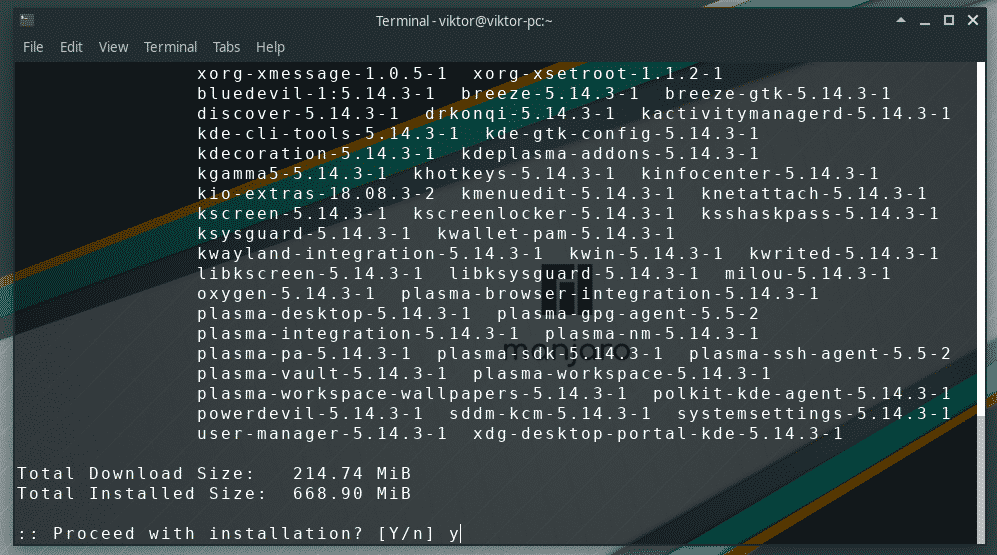 How to Install KDE on Manjaro Linux – Linux Hint