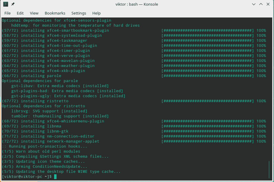 Install Xfce on Manjaro Linux – Linux Hint