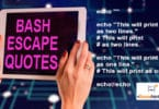 BASH ESCAPE QUOTES