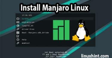 Install manjaro Linux