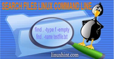 search files linux command line