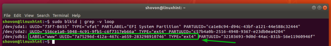 Mounting Partitions Using UUID and LABEL on Linux – Linux Hint