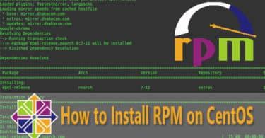 HOW TO INSTALL RPM centos
