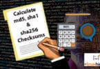 Calculate md5, sha1 and sha256 Checksums