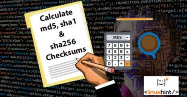 Calculate md5, sha1 and sha256 Checksums