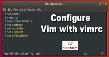 Configure Vim with vimrc