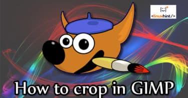How to crop in GIMP