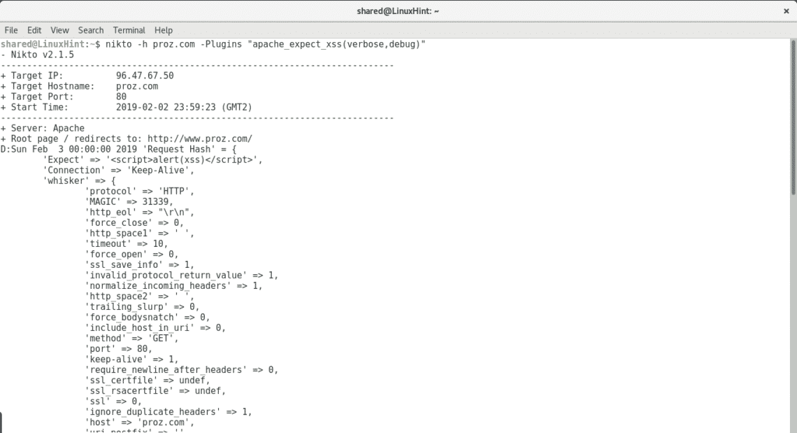 Getting Started With Nikto Vulnerability Scanner Linux Hint