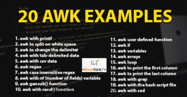 20 awk examples