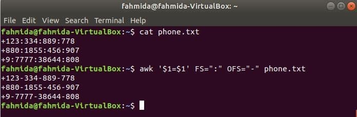 20 awk examples – Linux Hint