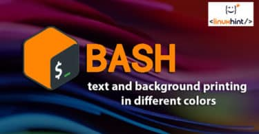 Bash text and background printing in different colors