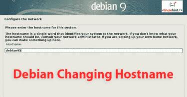 Debian Changing Hostname