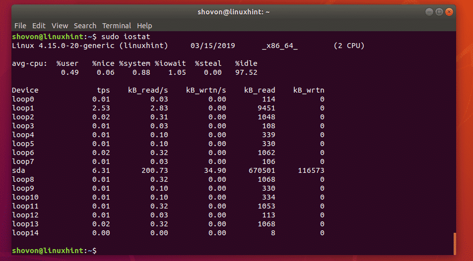 How to Monitor Disk IO in Linux – Linux Hint