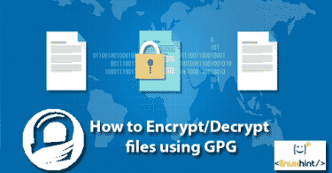How to Encrypt/Decrypt files using GPG