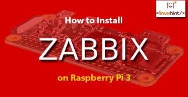 How to Install Zabbix on Raspberry Pi 3
