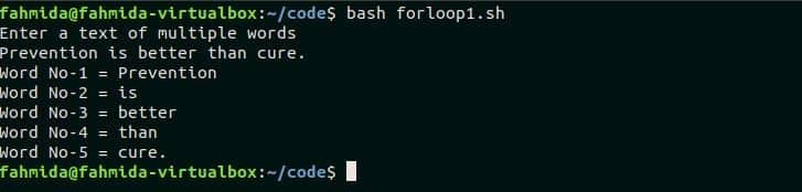 Bash for loop examples – Linux Hint