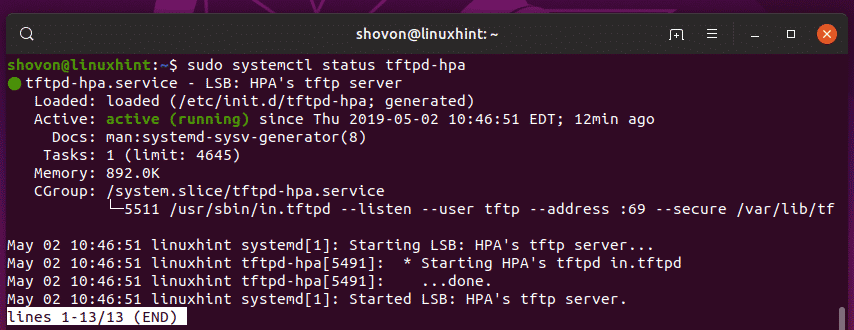 Installing and Configuring TFTP Server on Ubuntu – Linux Hint
